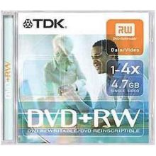 TDK DVD+RW 4.7GB 4x jewel